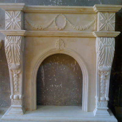 Egyptian Marble Fireplace